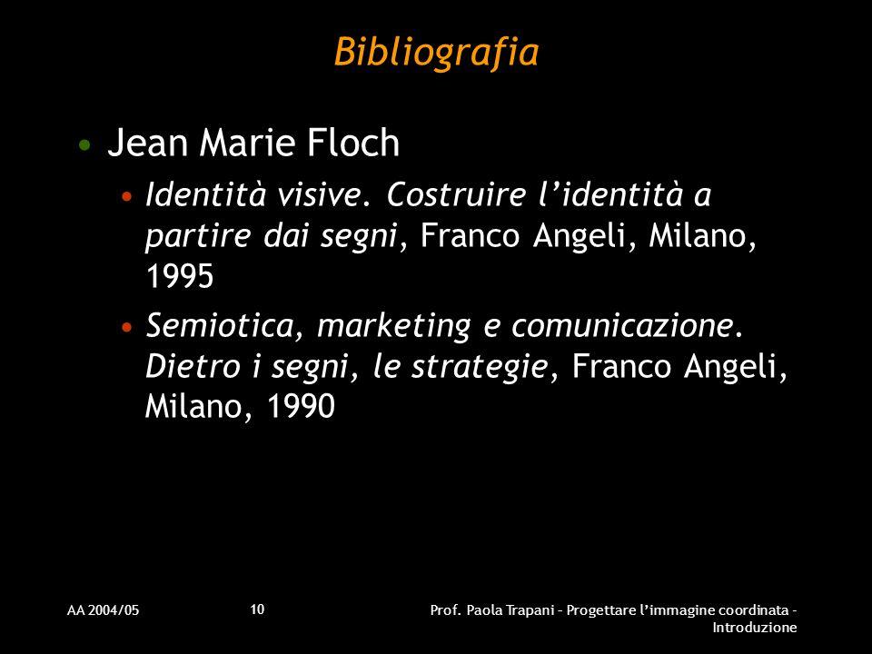 Bibliografia Jean Marie Floch
