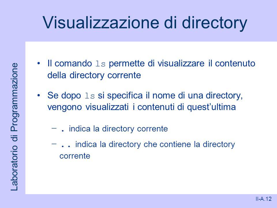Visualizzazione di directory