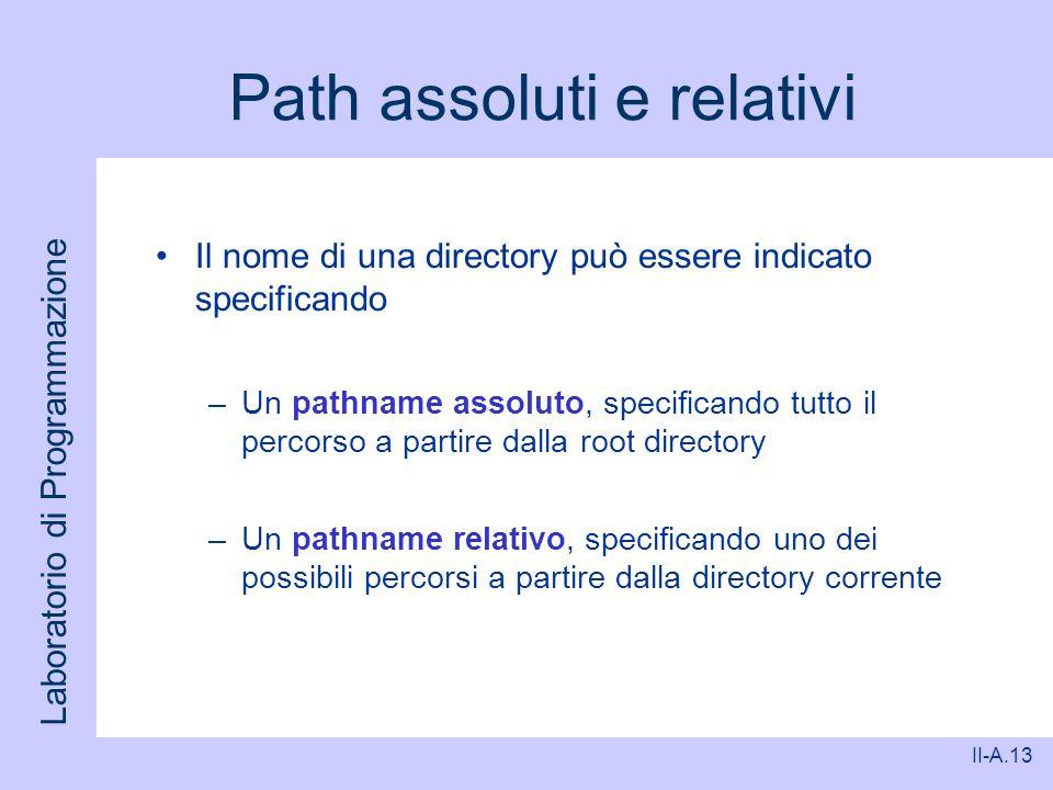 Path assoluti e relativi