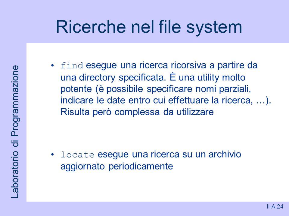 Ricerche nel file system
