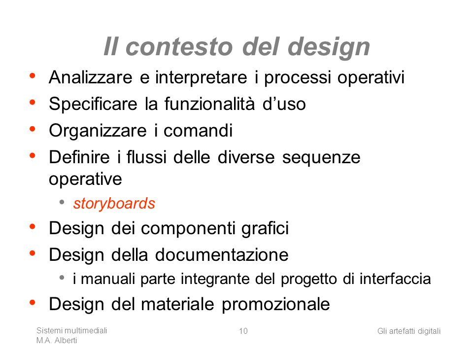 Il contesto del design Analizzare e interpretare i processi operativi
