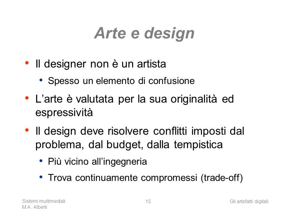 Arte e design Il designer non è un artista