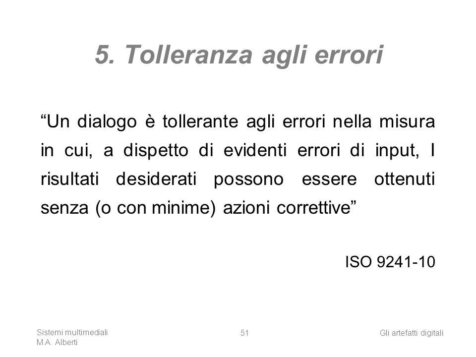 5. Tolleranza agli errori