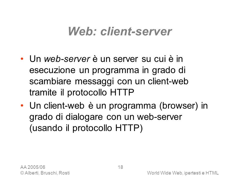 Web: client-server
