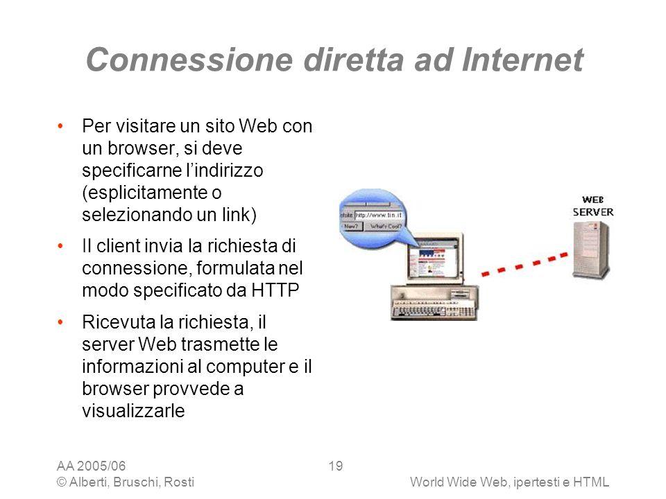 Connessione diretta ad Internet