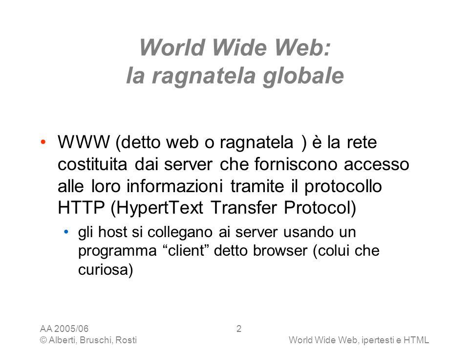 World Wide Web: la ragnatela globale