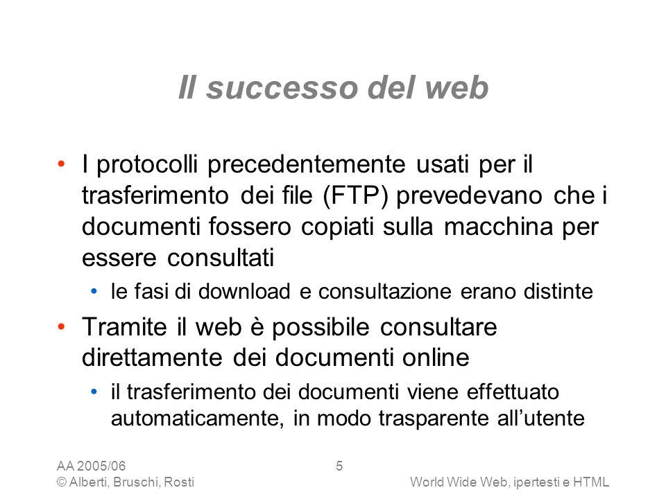 Il successo del web
