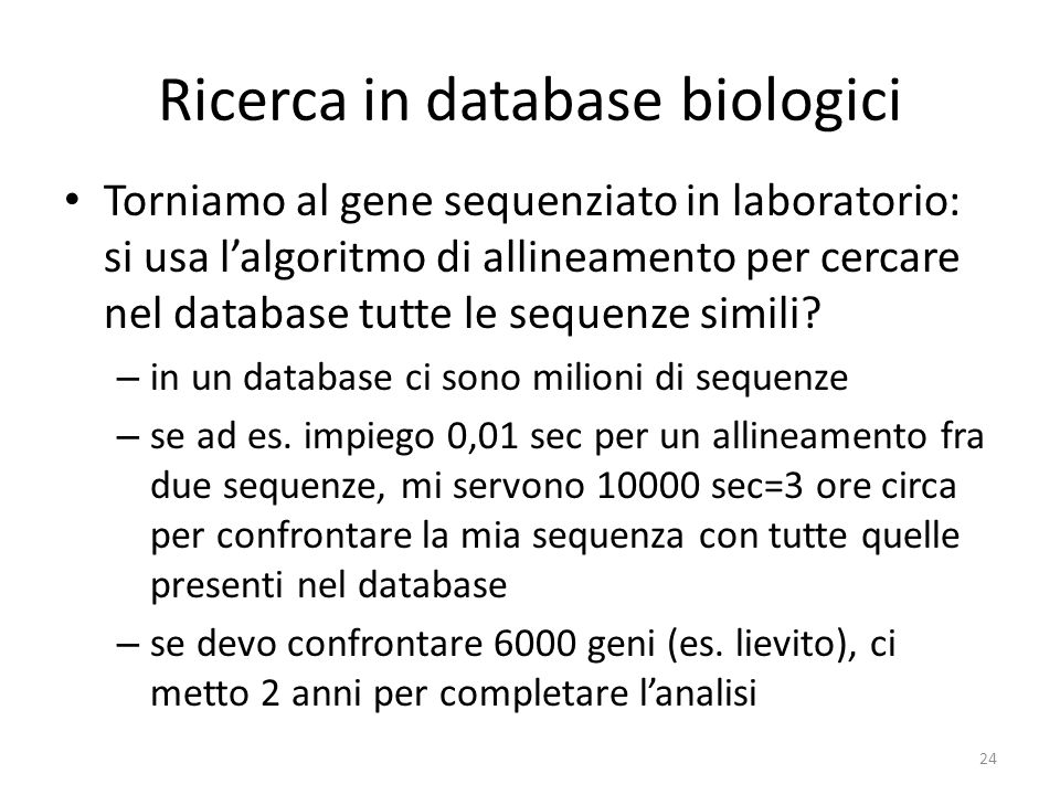 Ricerca in database biologici