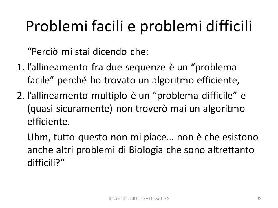 Problemi facili e problemi difficili