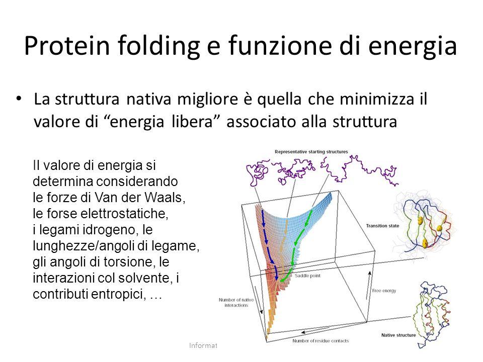 Protein folding e funzione di energia