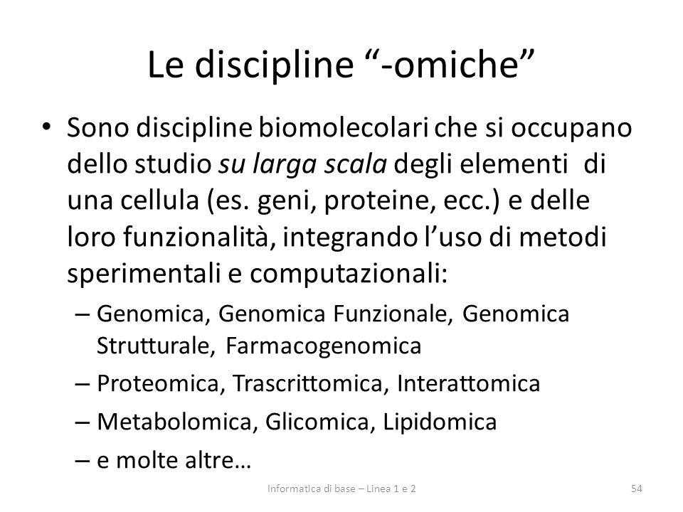 Le discipline -omiche