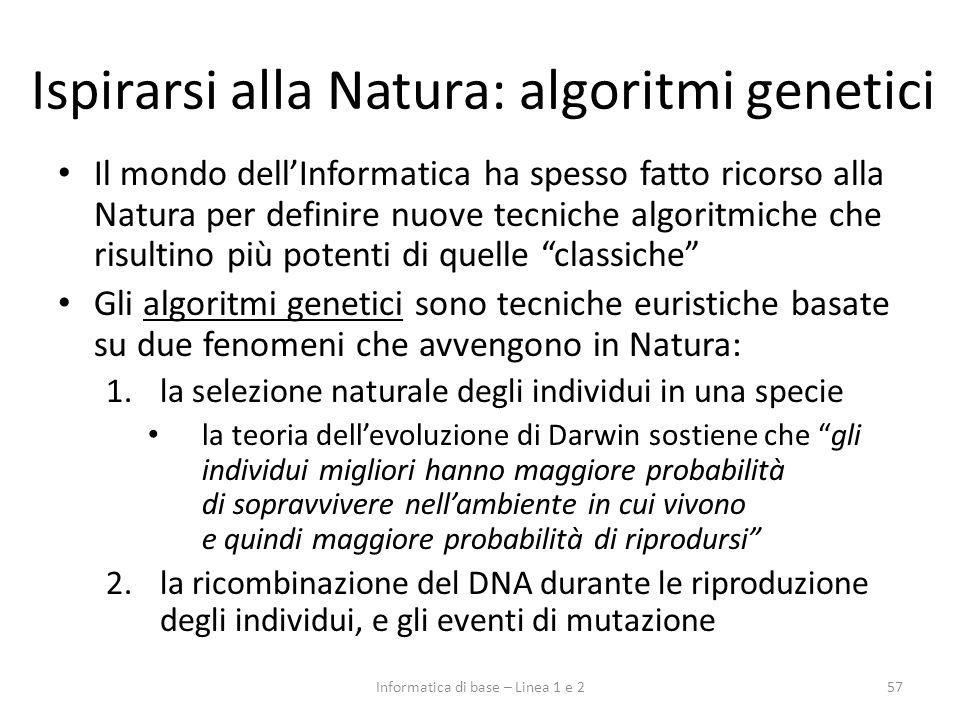 Ispirarsi alla Natura: algoritmi genetici