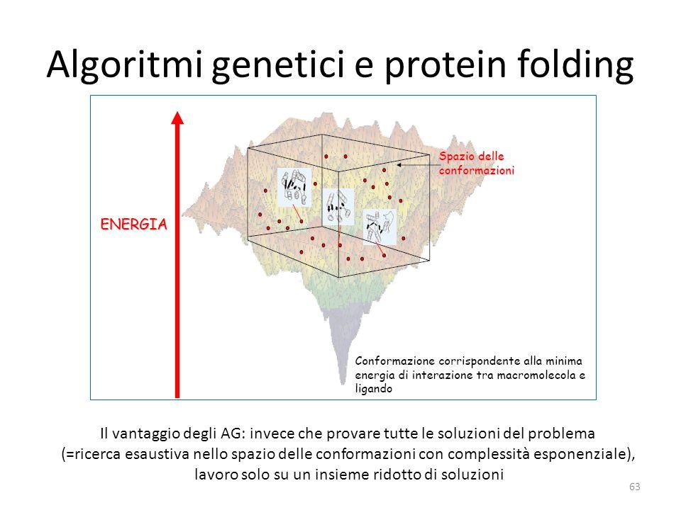 Algoritmi genetici e protein folding