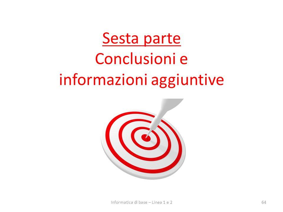 Sesta parte Conclusioni e informazioni aggiuntive
