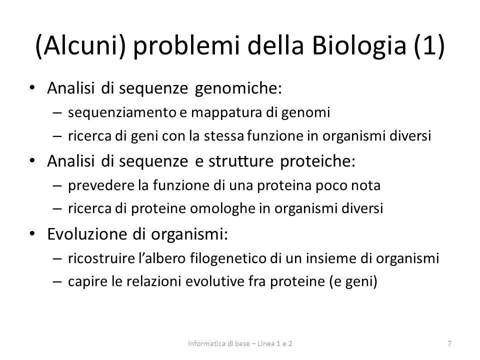 (Alcuni) problemi della Biologia (1)