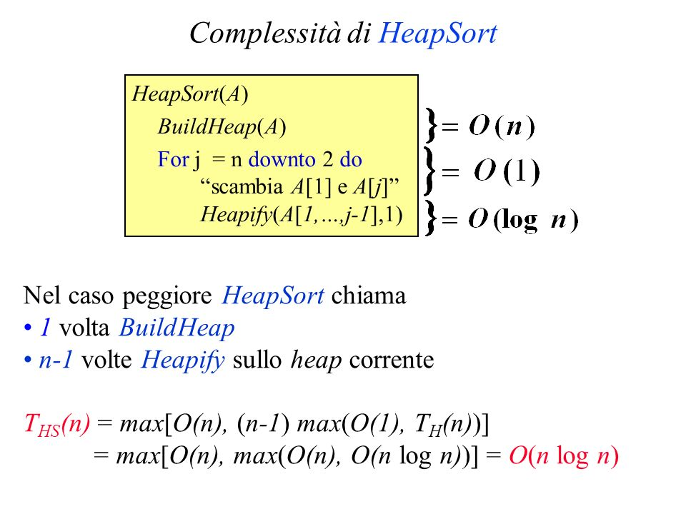 Complessità di HeapSort
