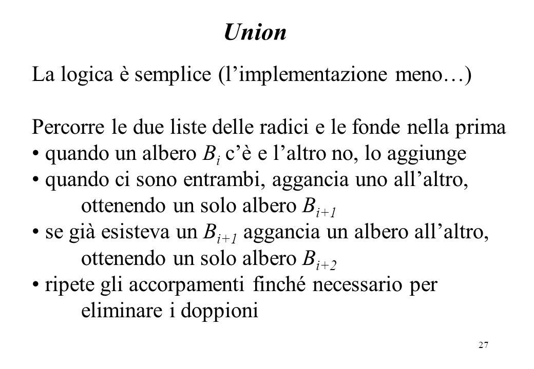 Union La logica è semplice (l'implementazione meno…)