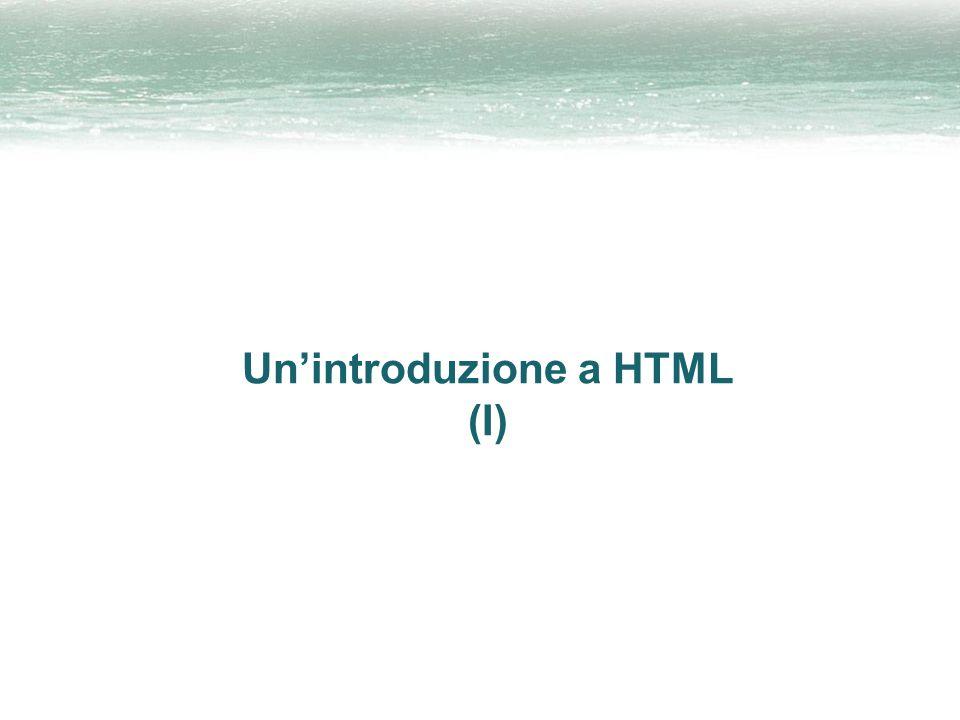 Un'introduzione a HTML (I)