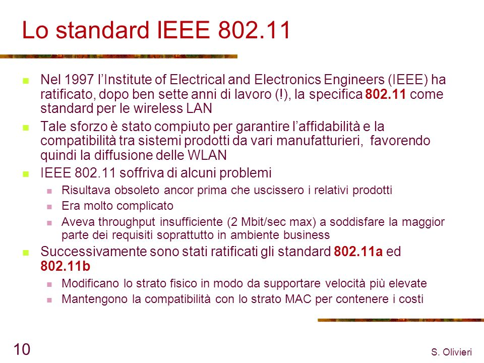 Lo standard IEEE 802.11