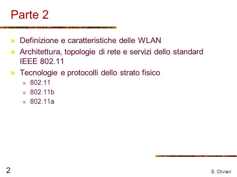 Parte 2 Definizione e caratteristiche delle WLAN
