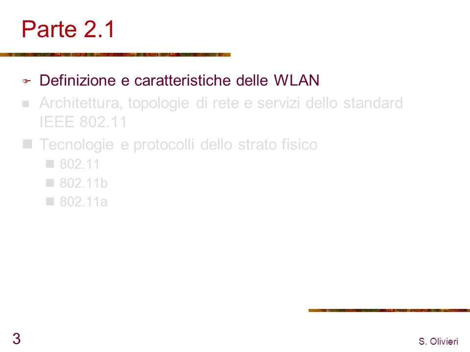 Parte 2.1 Definizione e caratteristiche delle WLAN