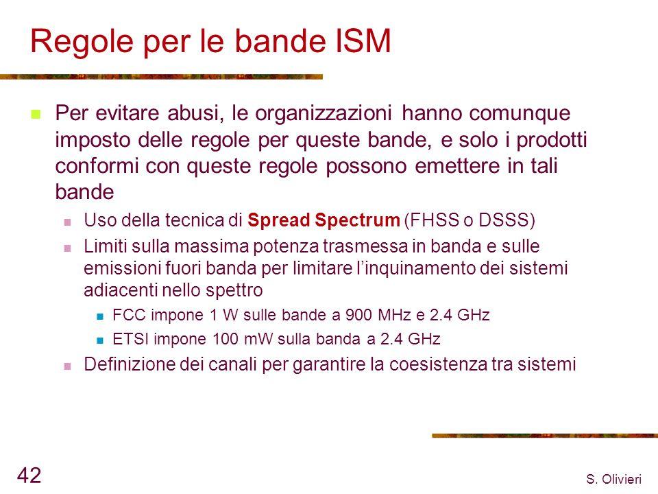 Regole per le bande ISM