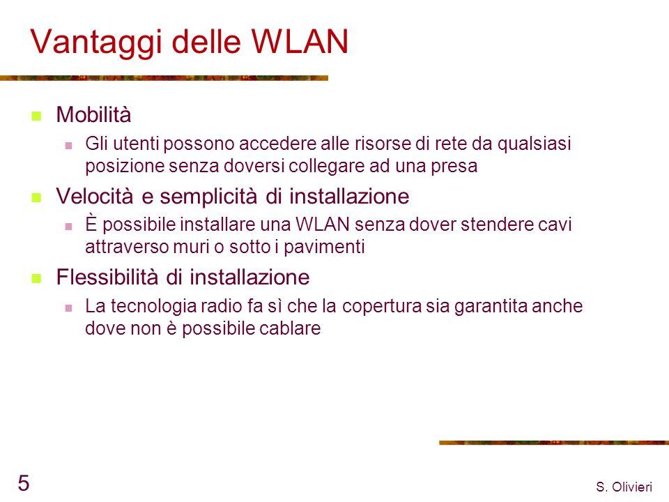 Vantaggi delle WLAN Mobilità Velocità e semplicità di installazione