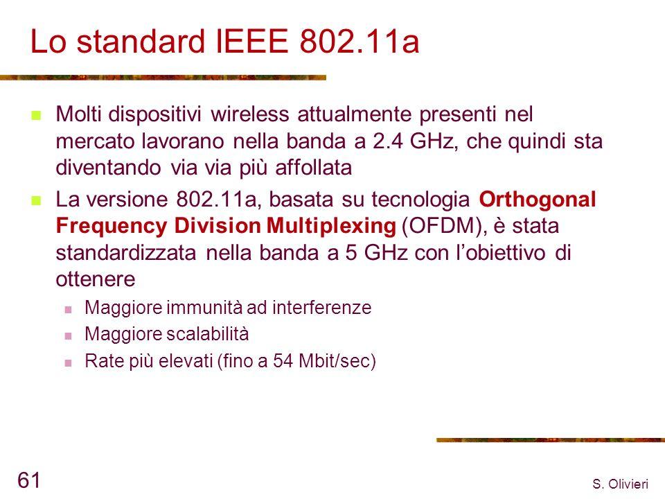 Lo standard IEEE 802.11a