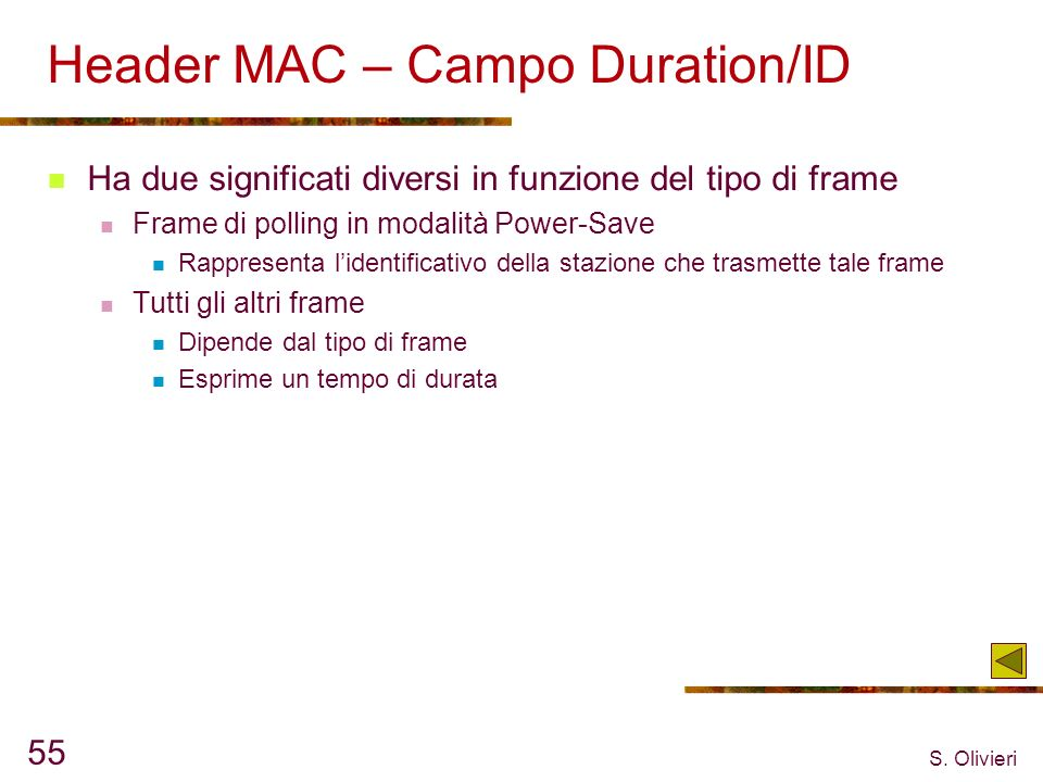 Header MAC – Campo Duration/ID
