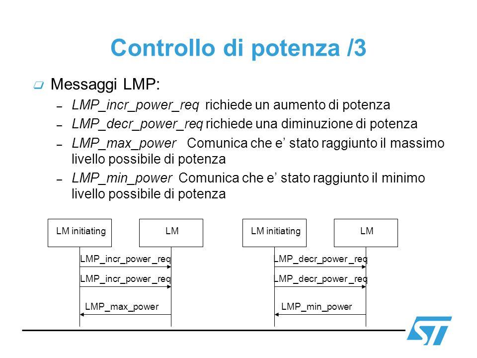 Controllo di potenza /3 Messaggi LMP:
