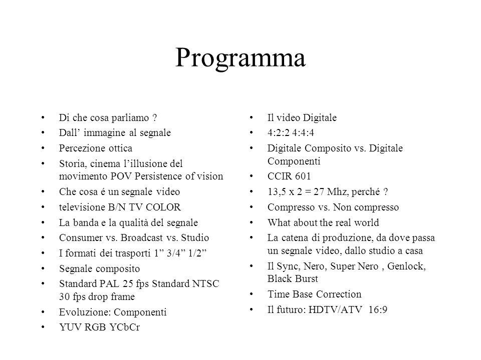 Programma Di che cosa parliamo Dall' immagine al segnale