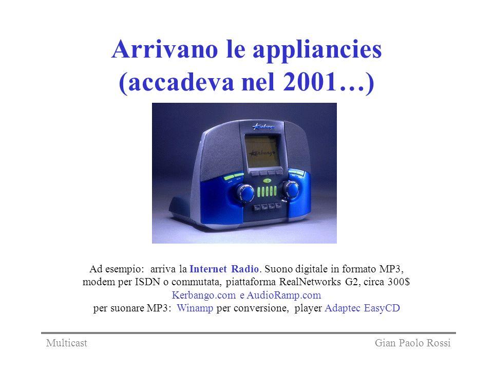 Arrivano le appliancies (accadeva nel 2001…)