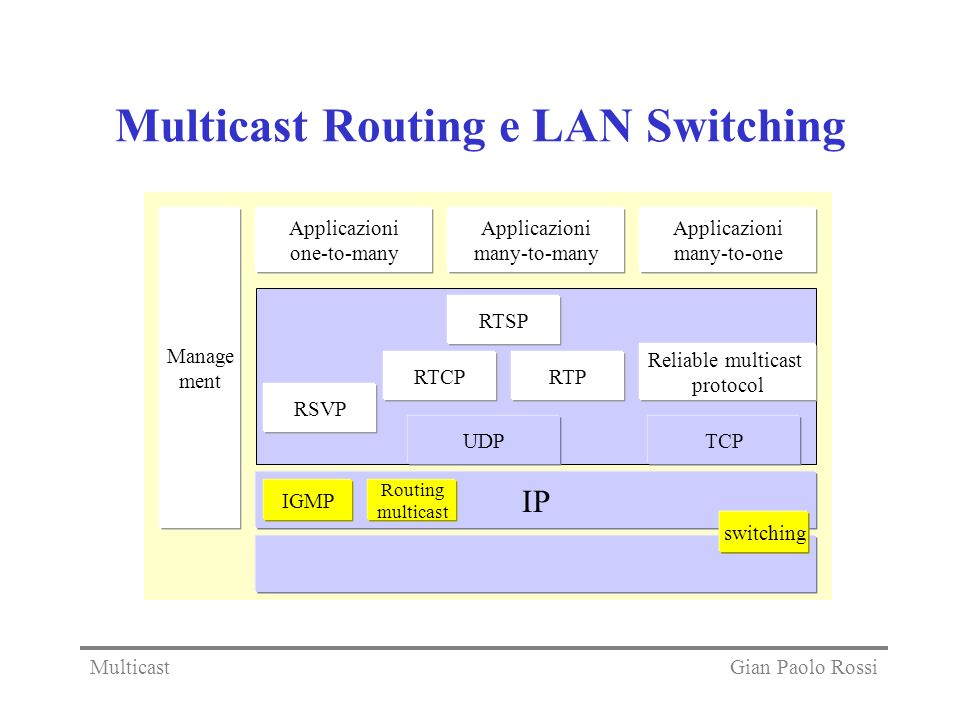 Multicast Routing e LAN Switching