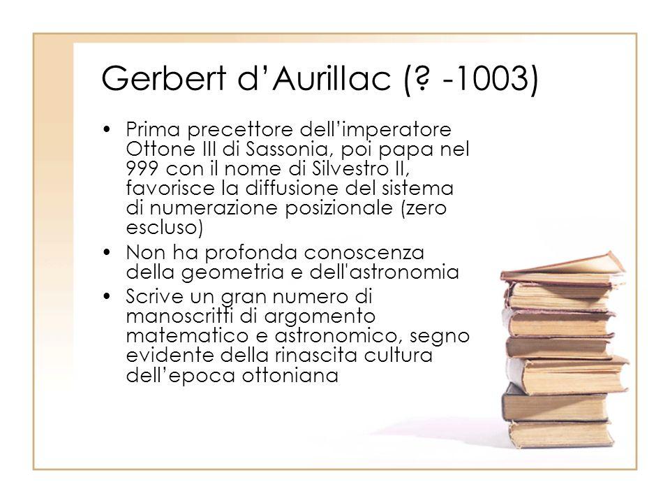 Gerbert d'Aurillac ( -1003)
