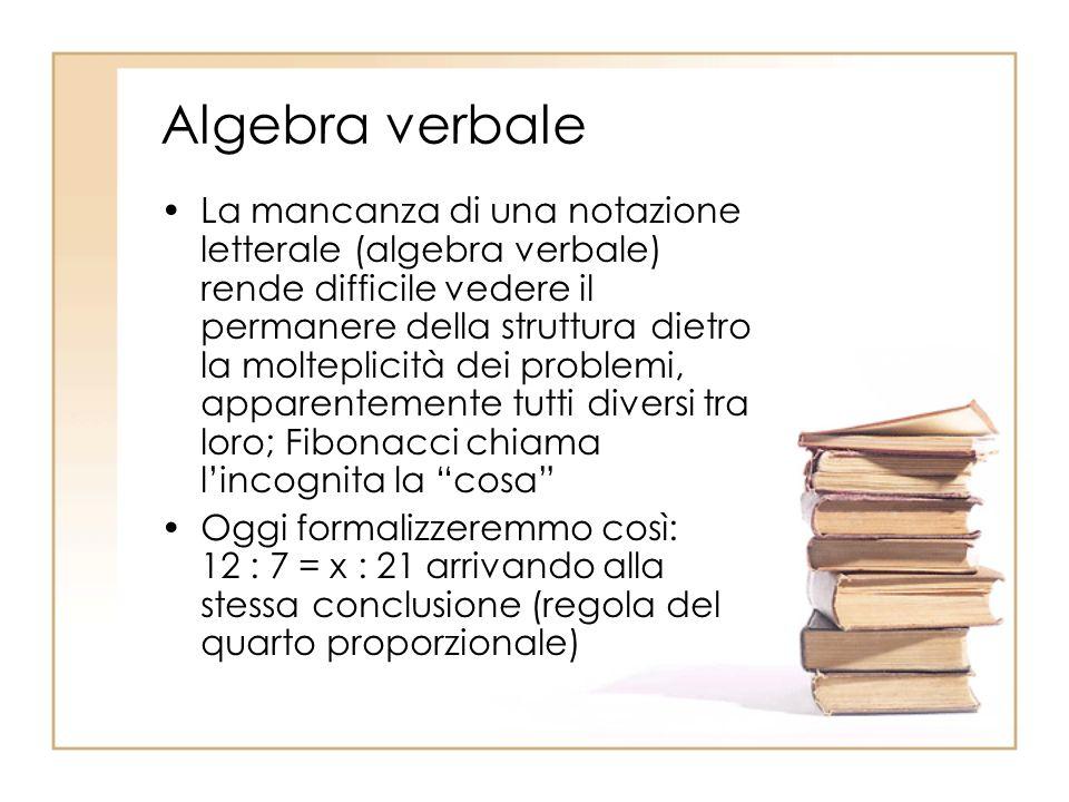 Algebra verbale
