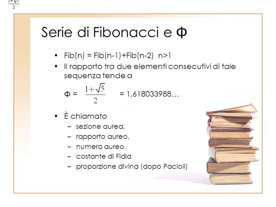 Serie di Fibonacci e  Fib(n) = Fib(n-1)+Fib(n-2) n>1