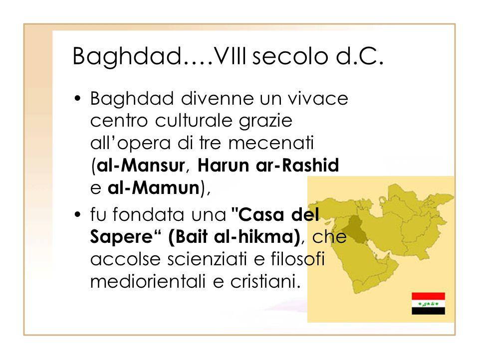 Baghdad….VIII secolo d.C.