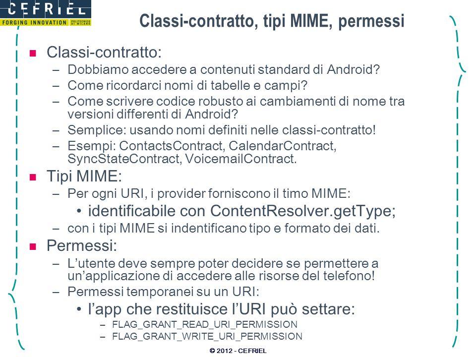 Classi-contratto, tipi MIME, permessi