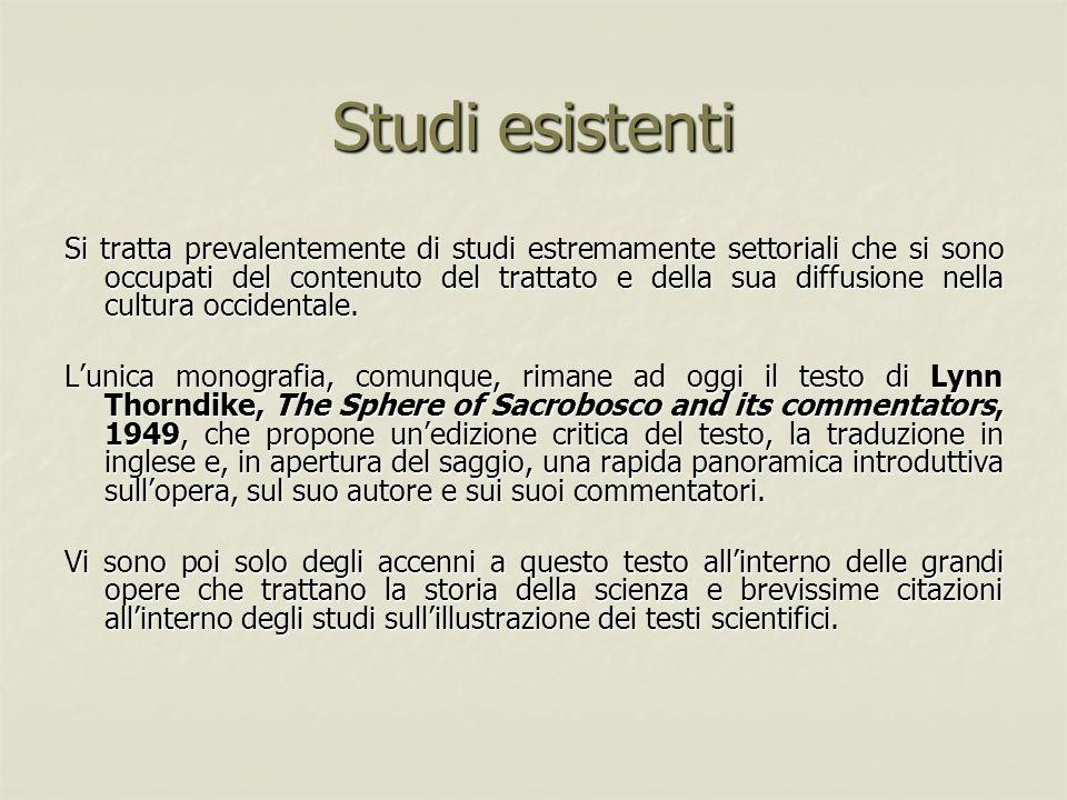 Studi esistenti