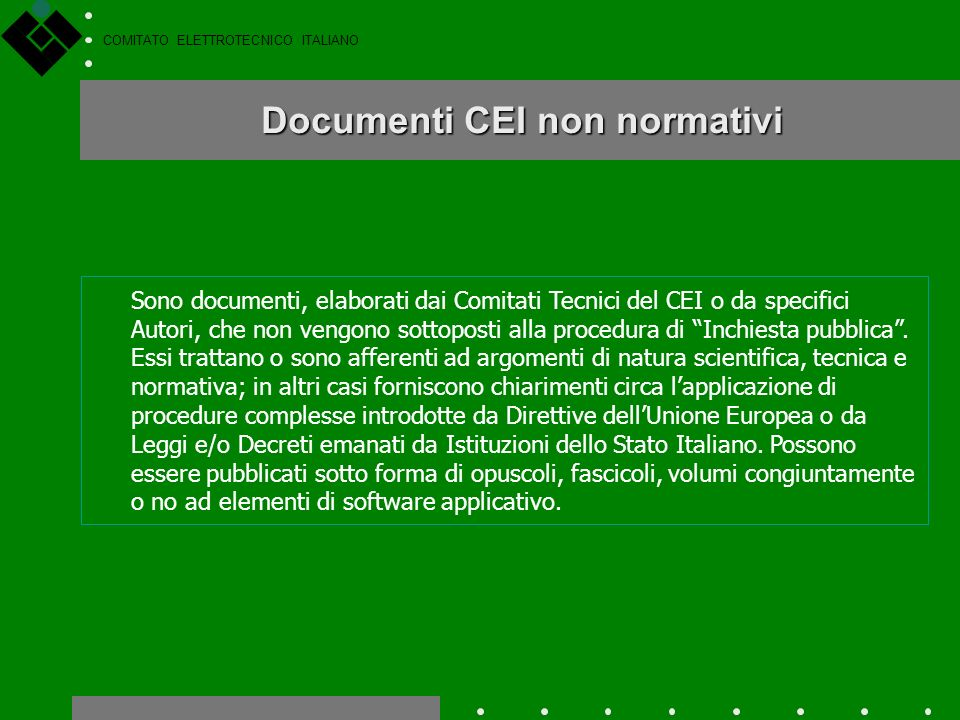 Documenti CEI non normativi