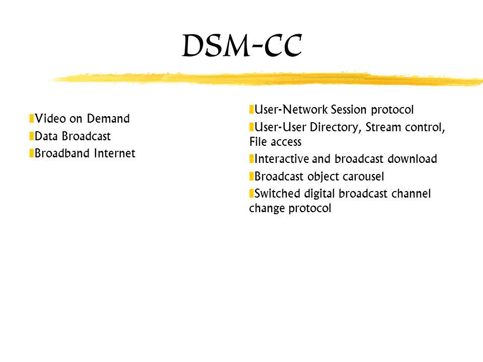 DSM-CC User-Network Session protocol