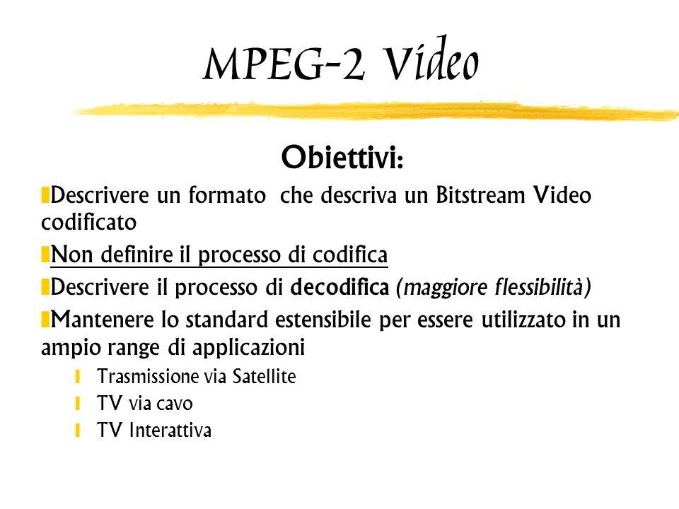MPEG-2 Video Obiettivi: