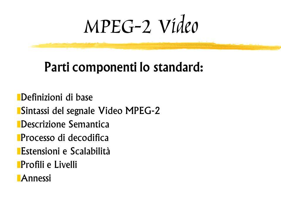 Parti componenti lo standard:
