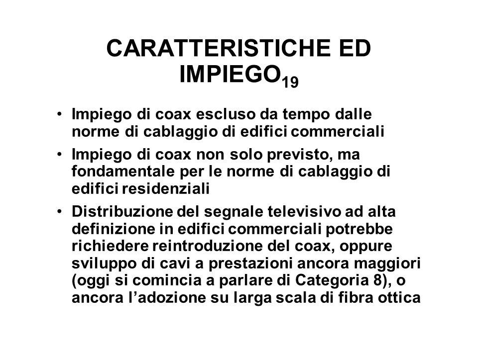 CARATTERISTICHE ED IMPIEGO19