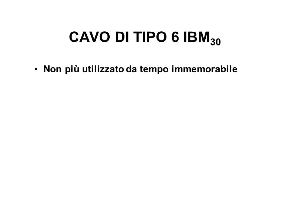 CAVO DI TIPO 6 IBM30 Non più utilizzato da tempo immemorabile
