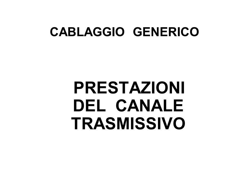 PRESTAZIONI DEL CANALE TRASMISSIVO