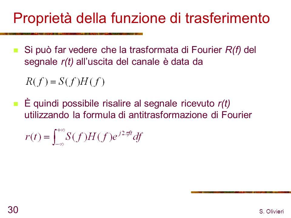 Proprietà della funzione di trasferimento
