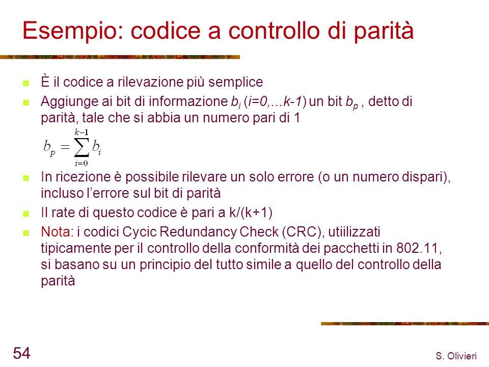 Esempio: codice a controllo di parità