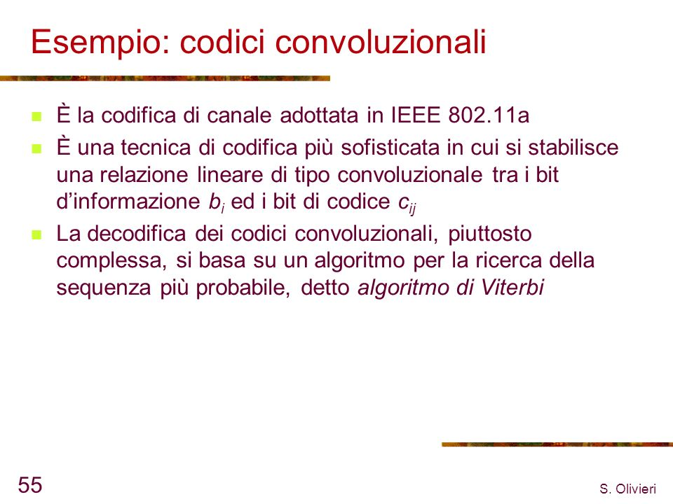Esempio: codici convoluzionali