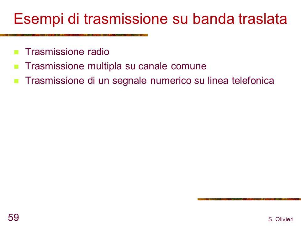 Esempi di trasmissione su banda traslata